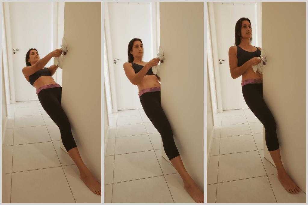 Como fazer remada em casa usando a maçaneta de uma porta